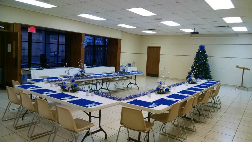 Our Community Room ready for a holiday party